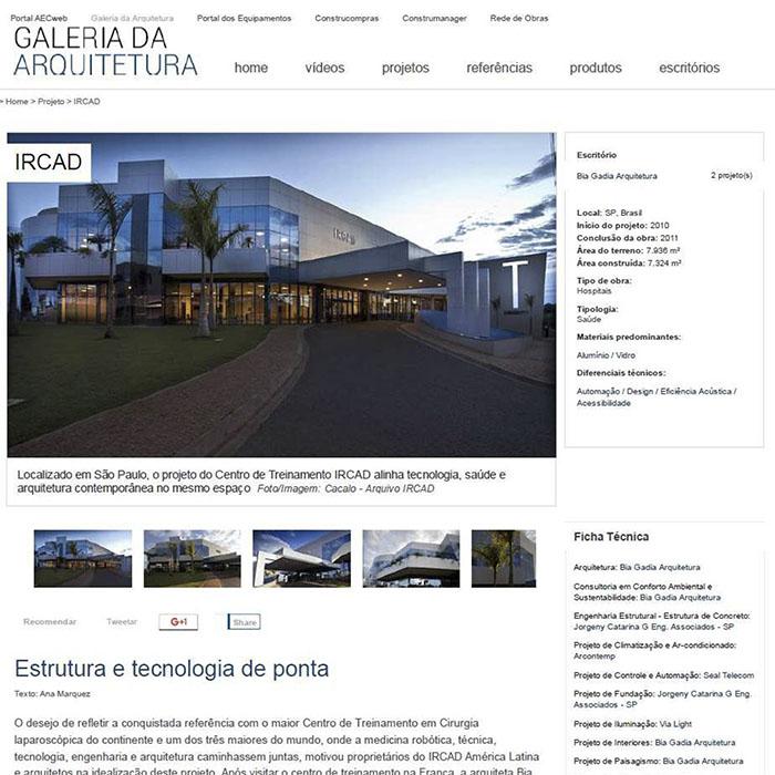 A Engenheiros desenvolveu a fachada do Centro de Treinamento IRCAD em São Paulo. Conheça a obra clicando na imagem ou visitando a Galeria da Arquitetura